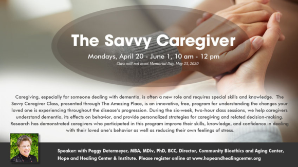 savvy caregivers with the Amazing Place for dementia