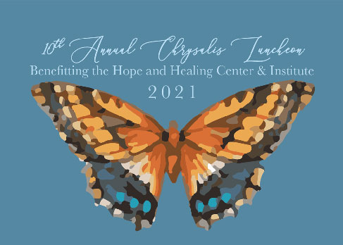 2021 Chrysalis Award Luncheon fundraiser logo for the Hope and Healing Center & Institute
