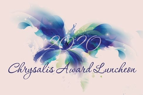 2020 Chrysalis Award Luncheon fundraiser logo for the Hope and Healing Center & Institute