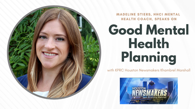 Hope and Healing Center & Institute's Mental Health Coach, Madeline Stiers,  Appears on KPRC Newsmakers