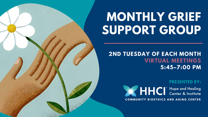 Monthly Grief Support Group that meets on 2nd Tuesday of each month